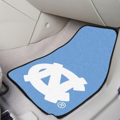 North Carolina Tar Heels 2-Piece Carpet Car Mats