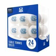 North Carolina Tar Heels 24 Count Ping Pong Balls
