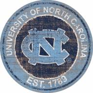 "North Carolina Tar Heels 24"" Heritage Logo Round Sign"
