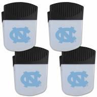 North Carolina Tar Heels 4 Pack Chip Clip Magnet with Bottle Opener