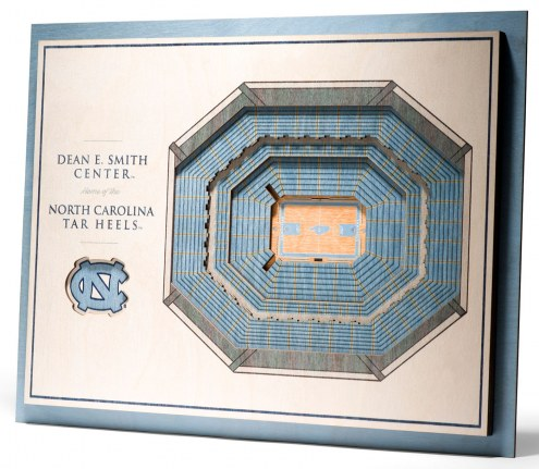 North Carolina Tar Heels 5-Layer StadiumViews 3D Wall Art