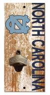 "North Carolina Tar Heels 6"" x 12"" Distressed Bottle Opener"