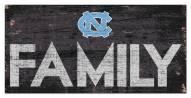 "North Carolina Tar Heels 6"" x 12"" Family Sign"