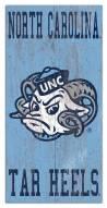 "North Carolina Tar Heels 6"" x 12"" Heritage Logo Sign"