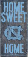 "North Carolina Tar Heels 6"" x 12"" Home Sweet Home Sign"