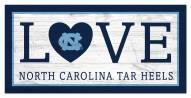 "North Carolina Tar Heels 6"" x 12"" Love Sign"