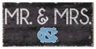 "North Carolina Tar Heels 6"" x 12"" Mr. & Mrs. Sign"