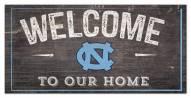 """North Carolina Tar Heels 6"""" x 12"""" Welcome Sign"""