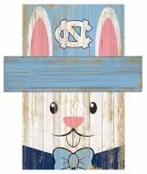"""North Carolina Tar Heels 6"""" x 5"""" Easter Bunny Head"""