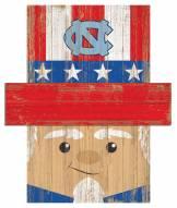 "North Carolina Tar Heels 6"" x 5"" Patriotic Head"