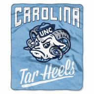 North Carolina Tar Heels Alumni Raschel Throw Blanket
