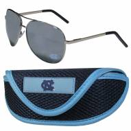 North Carolina Tar Heels Aviator Sunglasses and Sports Case