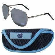 North Carolina Tar Heels Aviator Sunglasses and Sports Case