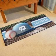 North Carolina Tar Heels Baseball Runner Rug