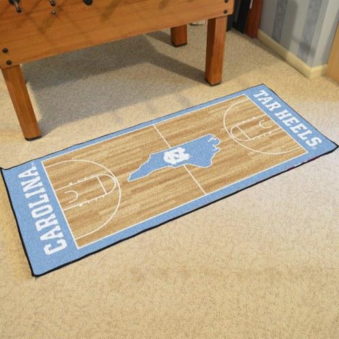 North Carolina Tar Heels Basketball Court Runner Rug