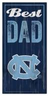 North Carolina Tar Heels Best Dad Sign