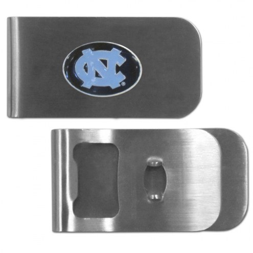 North Carolina Tar Heels Bottle Opener Money Clip