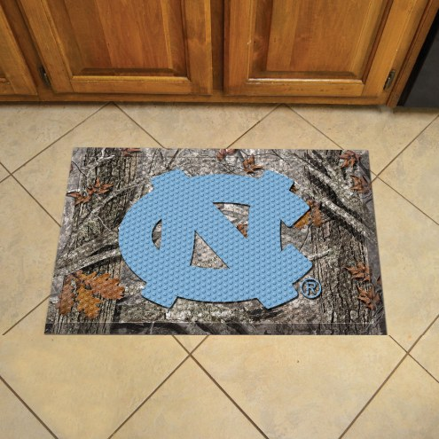 North Carolina Tar Heels Camo Scraper Door Mat