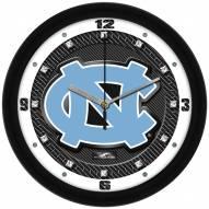 North Carolina Tar Heels Carbon Fiber Wall Clock