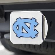North Carolina Tar Heels Chrome Color Hitch Cover