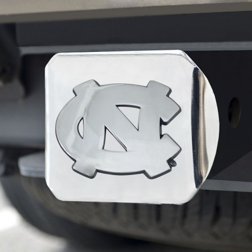 North Carolina Tar Heels Chrome Metal Hitch Cover
