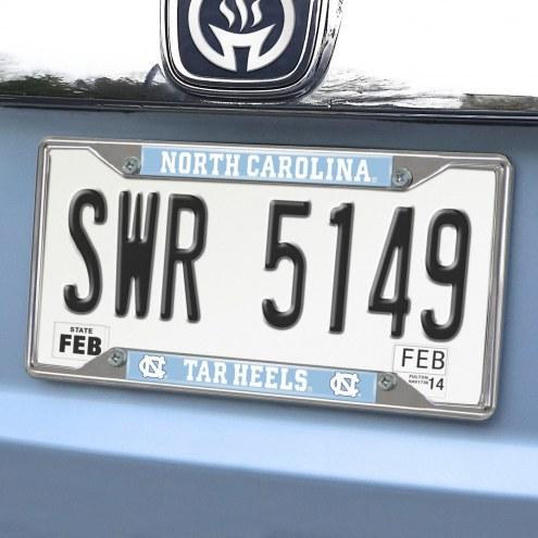 North Carolina Tar Heels Chrome Metal License Plate Frame