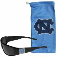 North Carolina Tar Heels Chrome Wrap Sunglasses & Bag