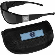 North Carolina Tar Heels Chrome Wrap Sunglasses & Zippered Carrying Case