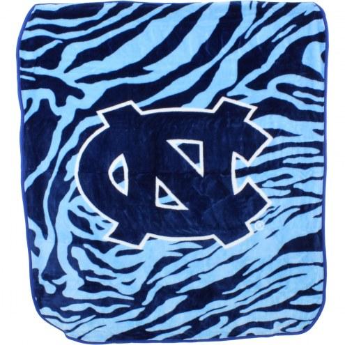 North Carolina Tar Heels Raschel Throw Blanket