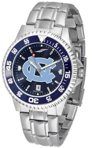 North Carolina Tar Heels Competitor Steel AnoChrome Color Bezel Men's Watch