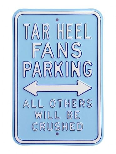 North Carolina Tar Heels Crushed Parking Sign