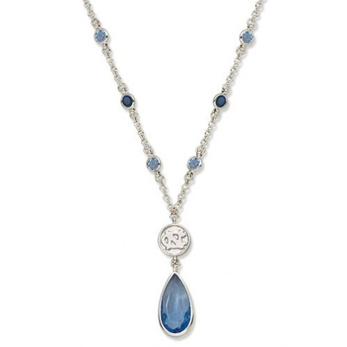 North Carolina Tar Heels Crystal Logo Necklace