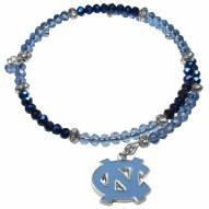 North Carolina Tar Heels Crystal Memory Wire Bracelet