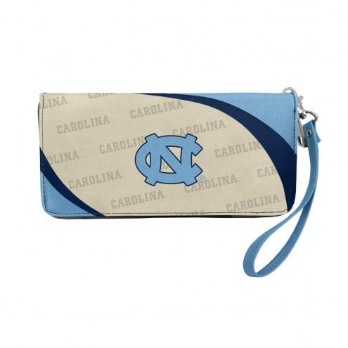 North Carolina Tar Heels Curve Zip Organizer Wallet