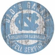 North Carolina Tar Heels Dad's Garage Sign
