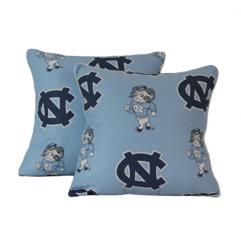 North Carolina Tar Heels Decorative Pillow Set