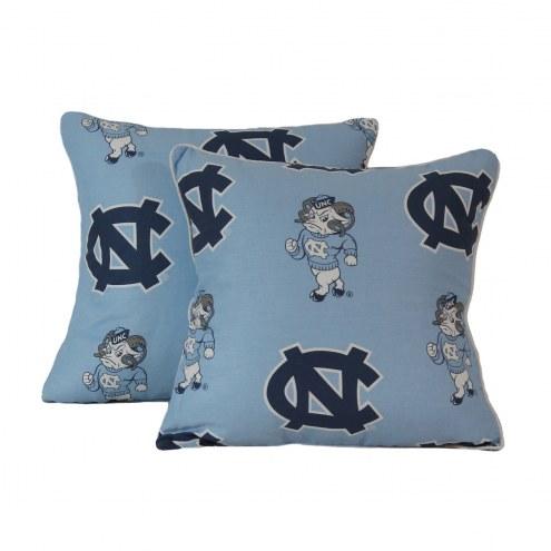 North Carolina Tar Heels Decorative Pillow Set