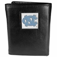North Carolina Tar Heels Deluxe Leather Tri-fold Wallet