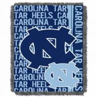 North Carolina Tar Heels Double Play Woven Throw Blanket