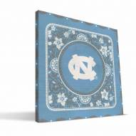 North Carolina Tar Heels Eclectic Canvas Print