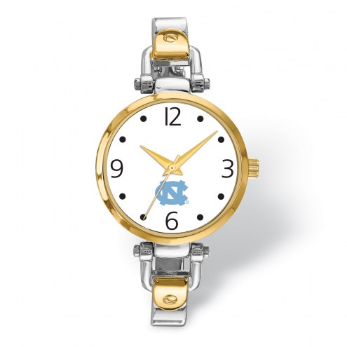 North Carolina Tar Heels Elegant Ladies Two-Tone Watch