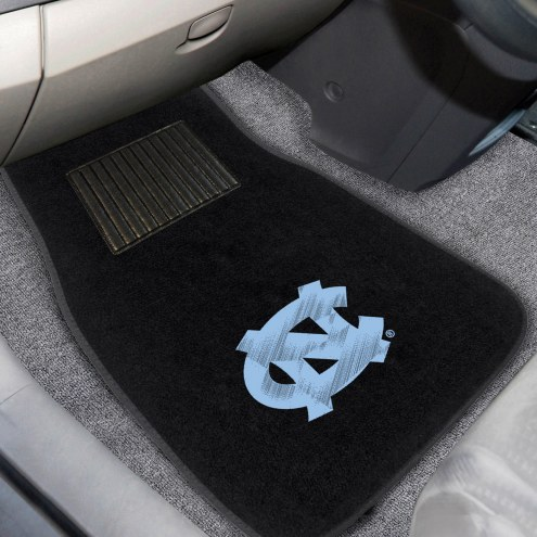 North Carolina Tar Heels Embroidered Car Mats