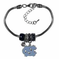 North Carolina Tar Heels Euro Bead Bracelet
