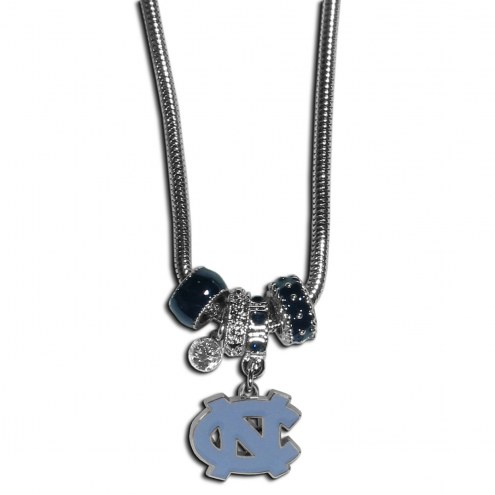 North Carolina Tar Heels Euro Bead Necklace