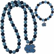 North Carolina Tar Heels Fan Bead Necklace & Bracelet Set