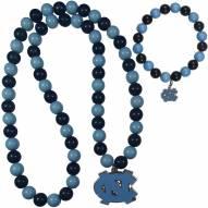 North Carolina Tar Heels Fan Bead Necklace & Bracelet Set