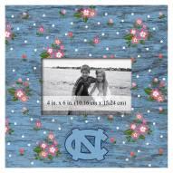 "North Carolina Tar Heels Floral 10"" x 10"" Picture Frame"