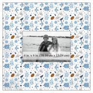 "North Carolina Tar Heels Floral Pattern 10"" x 10"" Picture Frame"