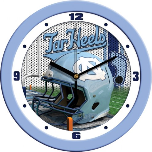 North Carolina Tar Heels Football Helmet Wall Clock