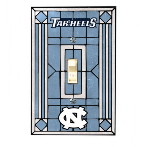 North Carolina Tar Heels Glass Single Light Switch Plate Cover